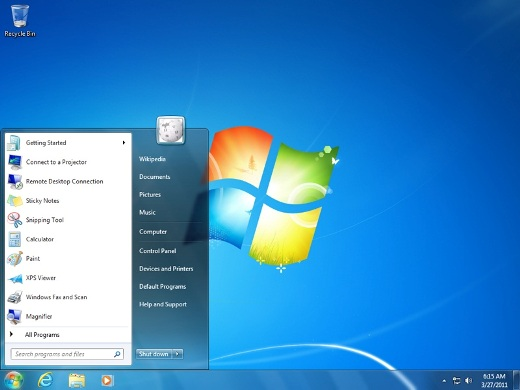 windows 7 start button